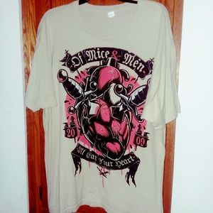 Of Mice And Men Shirt Size XL